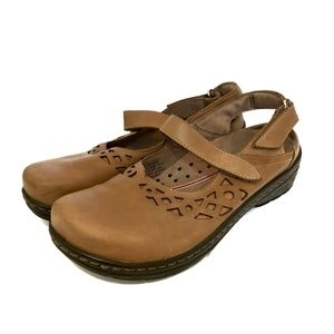 Klogs Forest Mary Jane Brown Slingback Clogs